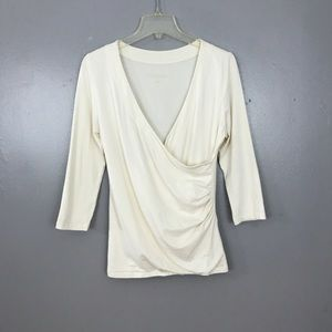 Soft Surroundings 3/4 Sleeve Shapely Surplice Top